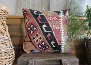 Handwoven Antique Kilim cover - (40*40cm) #2193