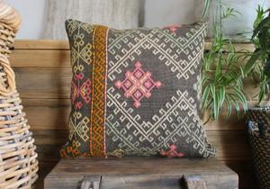 Handwoven Antique Kilim cover - (40*40cm) #2212