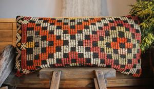 Vintage kilim cover rectangle (40*80cm) #LR44