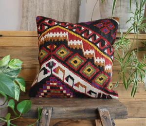 Handwoven Antique  Kilim cover - (40*40cm) #2257