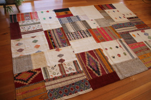 Colour Pops Natural Patchwork Kilim (#M202) 203*296cm