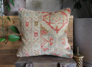 Handwoven Antique  Carpet cover - (40*40cm) #2261