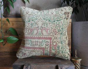 Handwoven Antique  Carpet cover - (40*40cm) #2267