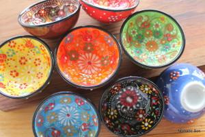 7cm Ceramic Bowls - Special Kabartma Style