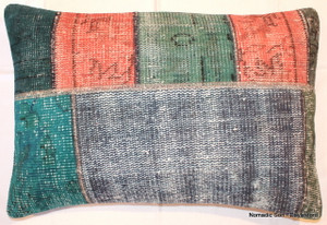 Overdyed patchwork cushion cover (46*69cm) OD52