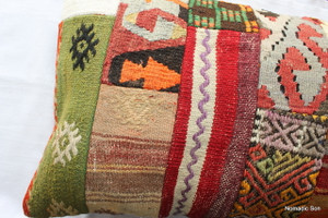 Vintage kilim cover rectangle (40*80cm) #PWR14