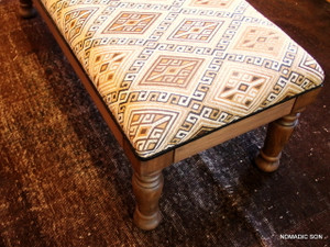'Caramel' Ottoman Long Bench