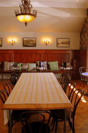 160*240cm Buldan tablecloth in yellow @ Daylesford House Cafe