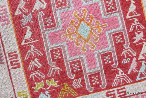 Small silk soumak (#241) 44*49cm