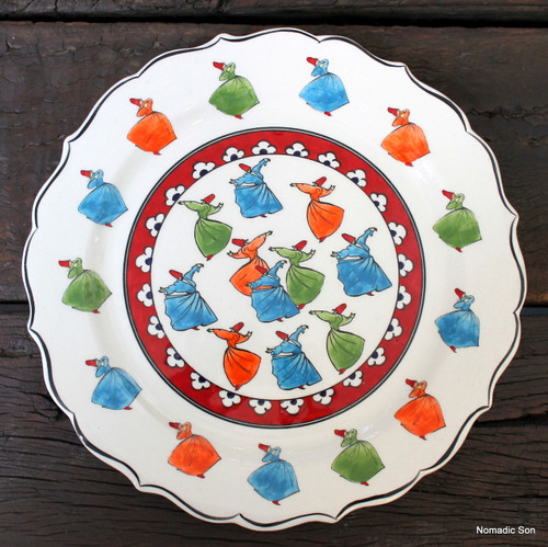Sufi - Whirling Dervish plate - 30cm