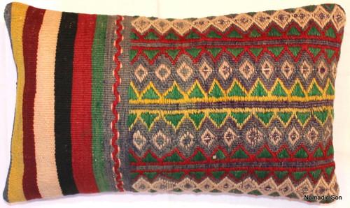 Vintage kilim cover rectangle (30*50cm) #KR64