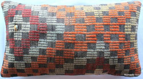 Vintage kilim cover - medium rectangle (35*60cm) #MR10
