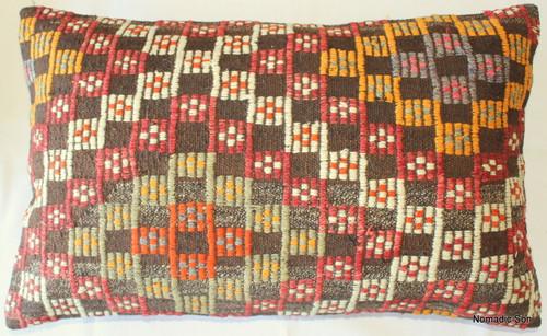 Vintage kilim cover rectangle (40*65cm) #DC3
