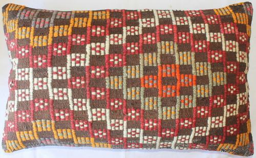 Vintage kilim cover rectangle (40*65cm) #DC17