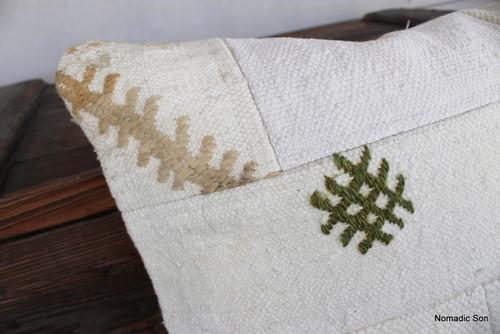 Vintage Patchwork Natural kilim cover - medium (50*50cm) - #FF320
