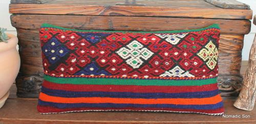 Vintage kilim cover - medium rectangle (30*60cm) #MR25