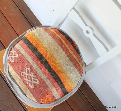 Seat Pad / Chair Cushion / Round Gusseted Cover #SC1