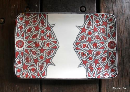Porcelain Geometric Serving Platter - Large