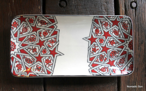 Porcelain Geometric Serving Platter - Medium