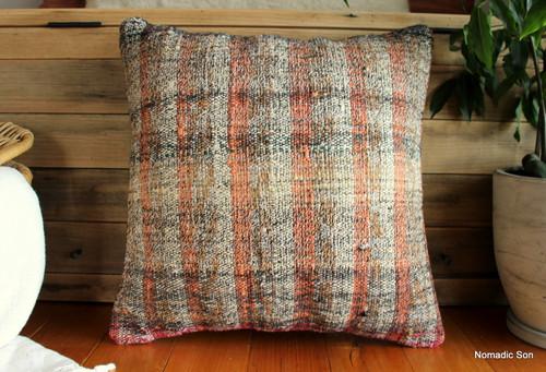 Vintage kilim cover - medium (50*50cm) - #FF346