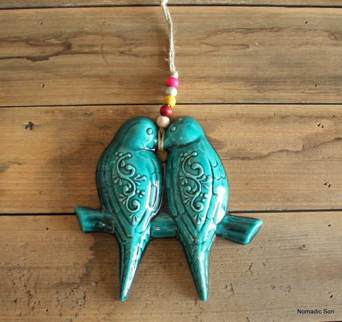 'Firuze' Wall Hanging - Love Birds