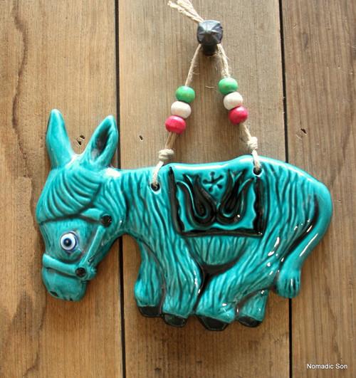 'Firuze' Wall Hanging - Donkey