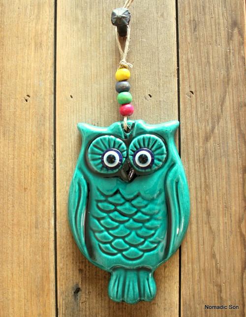 'Firuze' Wall Hanging - Owl