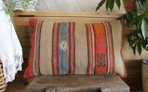 Vintage kilim cover - small rectangle (30*50cm) #SR125