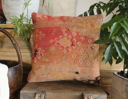 Handwoven Antique Kilim cover - (40*40cm) #2165