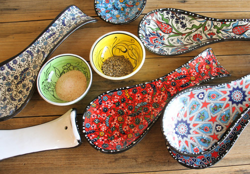 Spoon Rest - Various Ottoman Designs - pre-drilled hanging hole
