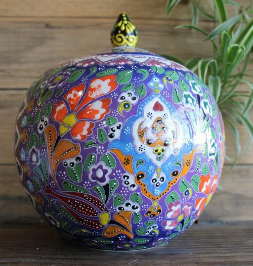 Kabartma Style Globe Jar - Medium - 20cm #2
