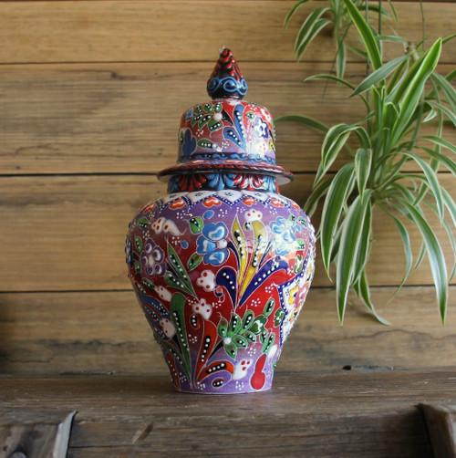Kabartma Style Lidded Jar - Small - 20cm #2