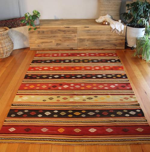 West vintage Turkish kilim (#P98) 160*248cm