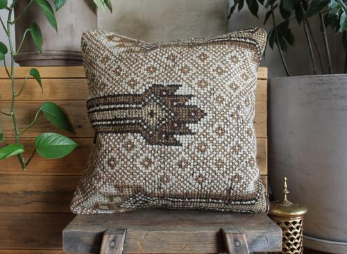 Handwoven Antique  Carpet cover - (40*40cm) #2268