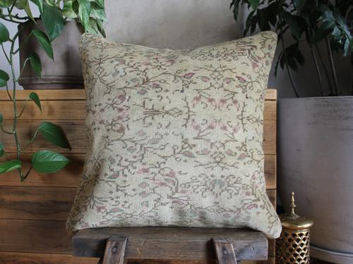 Handwoven Vintage Carpet cover - medium (50*50cm) - #FF436