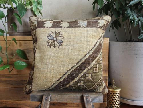 Handwoven Vintage Carpet cover - medium (50*50cm) - #FF438