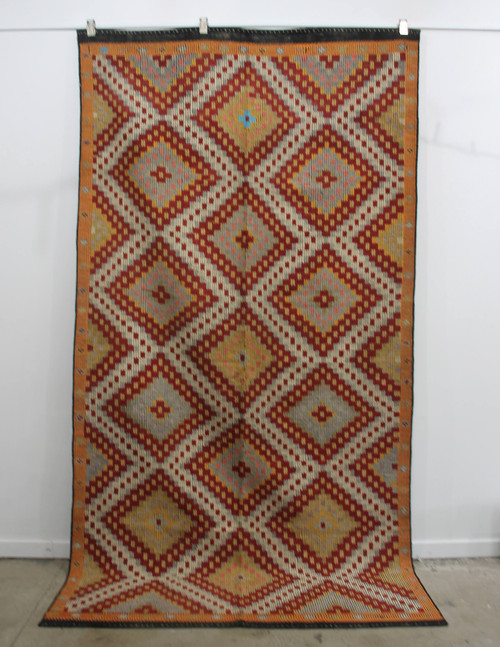 West Turkish Vintage kilim rug (#P1061) 174*333cm