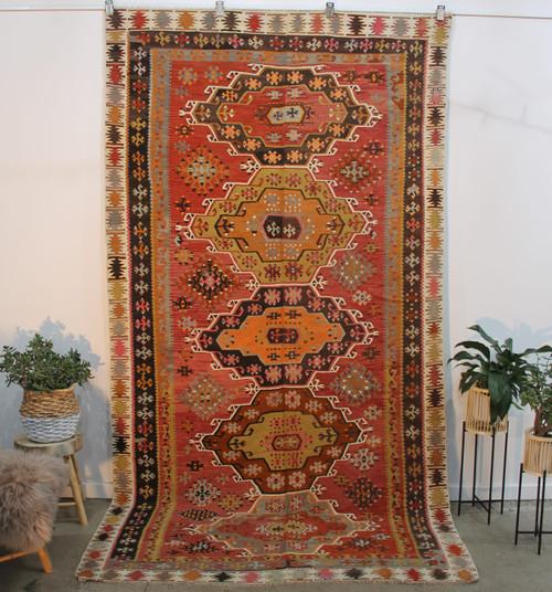 Antique Central Anatolian Kilim (#A23) 192*368cm