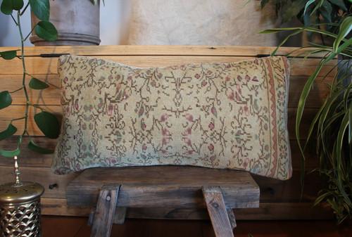 Vintage handwoven carpet cover  (30*60cm) #MR28
