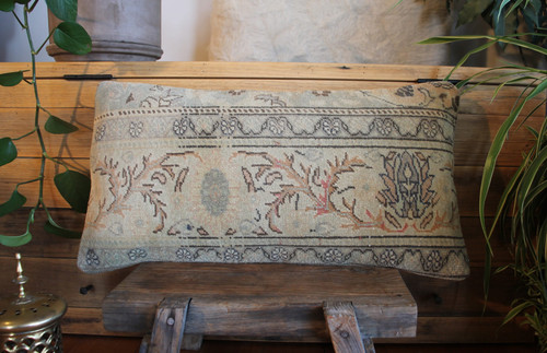 Vintage handwoven carpet cover  (30*60cm) #MR30