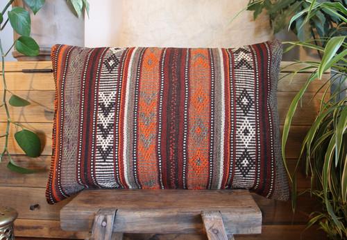 Vintage handwoven kilim cover rectangle (40*60cm) #KR228