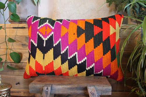 Vintage handwoven kilim cover rectangle (40*60cm) #KR234