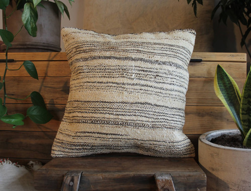 Handwoven Antique  Kilim cover - (40*40cm) #2309
