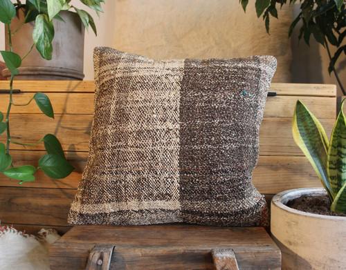 Handwoven Antique  Kilim cover - (40*40cm) #2314