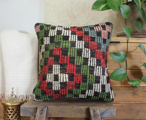 Handwoven Vintage Kilim cushion cover - (40*40cm) #607