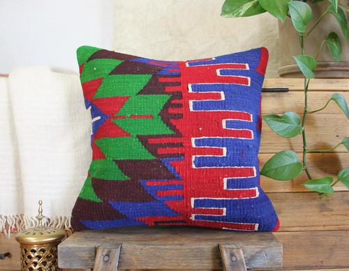 Handwoven Vintage Kilim cushion cover - (40*40cm) #612