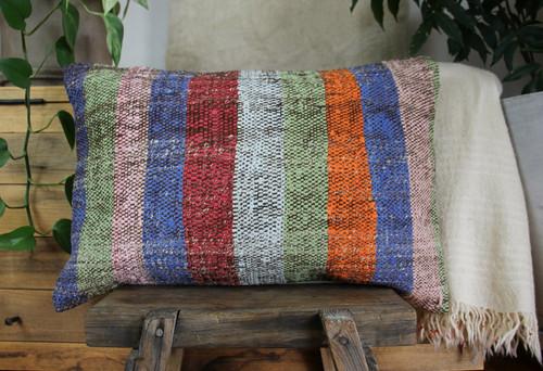 Handwoven kilim cover rectangle (40*60cm) #KR239