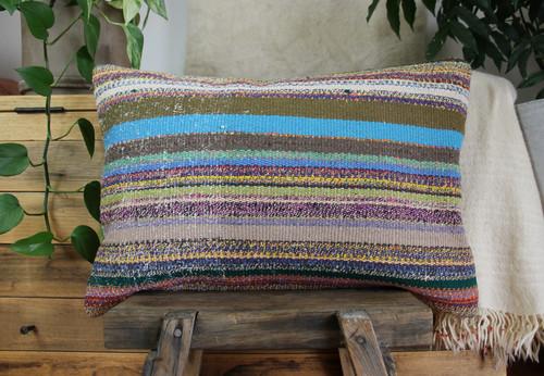 Handwoven kilim cover rectangle (40*60cm) #KR240