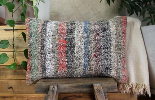 Handwoven kilim cover rectangle (40*60cm) #KR247