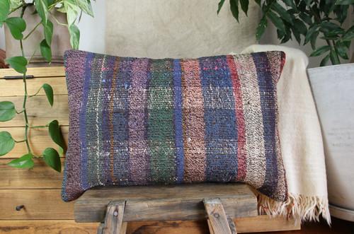 Handwoven kilim cover rectangle (40*60cm) #KR253
